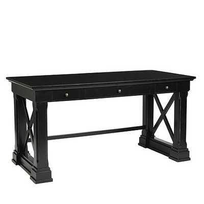 Bourdonnais Desk - Rubbed Black - Ballard Designs