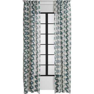 Brady blue-green curtain panel - CB2