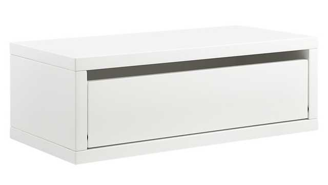 Slice white wall mounted storage shelf - CB2