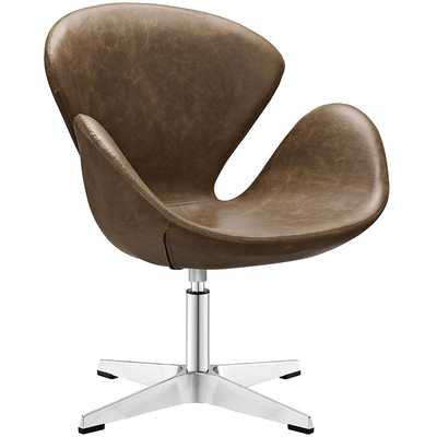 FLIGHT LOUNGE CHAIR IN BROWN - Modway Furniture