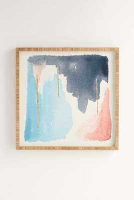"""MOVING MOUNTAINS Wall Art - 11"""" x 13"""" - Bamboo Frame - Wander Print Co."""