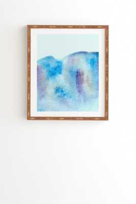 "OCEAN TIDE Wall Art - 11"" x 13"" - Bamboo Frame - Wander Print Co."