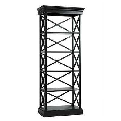 Bourdonnais Bookcase - Black - Ballard Designs