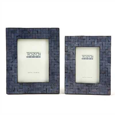 Set of 2 Midnight Blue Picture Frames - Burke Decor