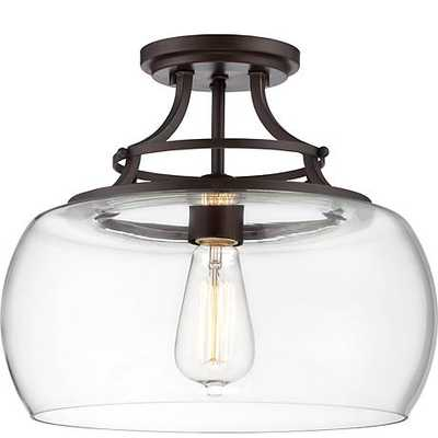 Charleston Bronze Clear Glass Ceiling Light - Lamps Plus