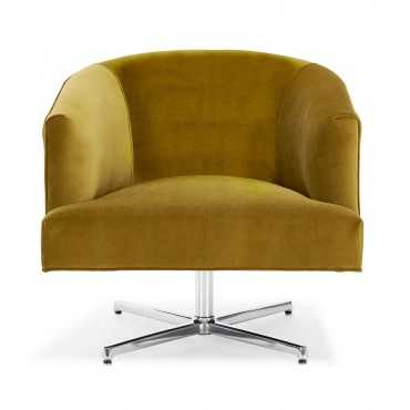 cobble hill freemont swivel chair - vance mustard - ABC Home and Carpet
