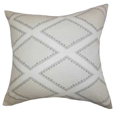 "Alaric Geometric Pillow Gray - 18"" x 18"" - Linen & Seam"