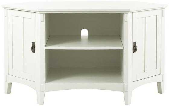 Artisan Corner TV Stand - White - Home Depot