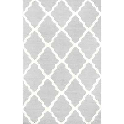 Moderna Light Gray Marrakech Trellis Area Rug - 5' x 8' - Wayfair