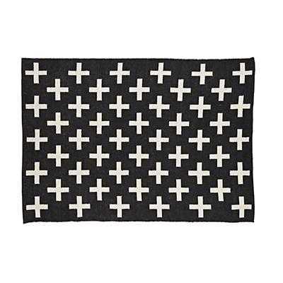 5 x 8' Black Indoor Outdoor Rug - Land of Nod