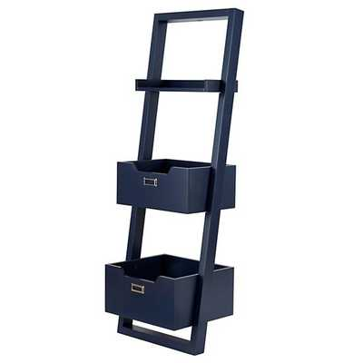 Little Sloane Leaning Bookcase, Midnight Blue - Land of Nod