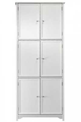 Oxford 6-Door Storage Cabinet - White - Home Depot