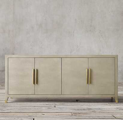 Graydon Shagreen Panel 4-Door Sideboard- Bone Shagreen - RH