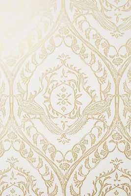 Tiled Crest Wallpaper-Gold - Anthropologie