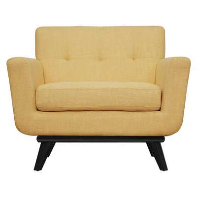 Jordan Mustard Yellow Linen Chair - Maren Home