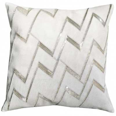 Agon Hide And Beadwork Pillow - No Insert - High Fashion Home