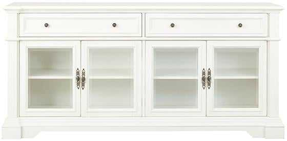 Bufford  Media Cabinet - Rubbed ivory - Home Depot
