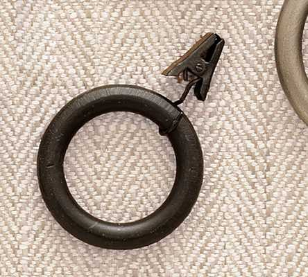 PB STANDARD CLIP RINGS - ANTIQUE BRONZE FINISH - Set of 10 - Pottery Barn