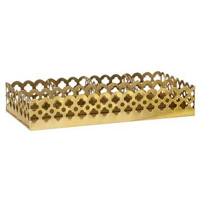 Golden Glam Desk Accessories - Divided Tray - Pottery Barn Teen
