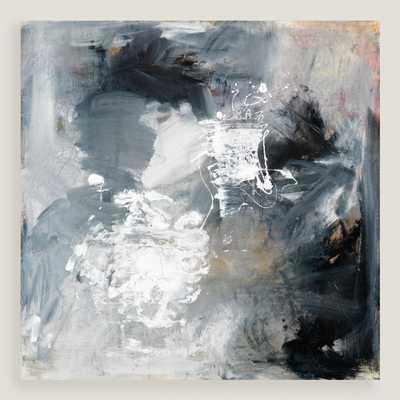 "Black and White I Art - 35""Sq. - Unframed - World Market/Cost Plus"