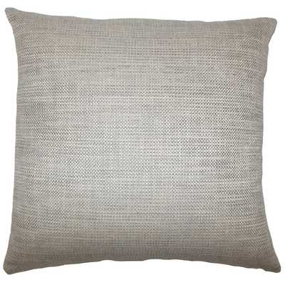 "Daker Weave Pillow Stone-12"" x 18""-Insert included - Linen & Seam"