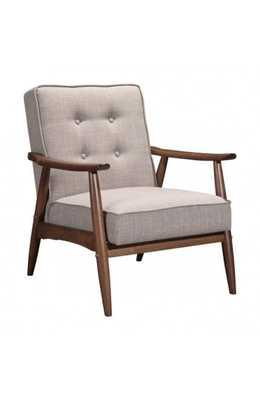 Rocky Arm Chair Putty - Zuri Studios