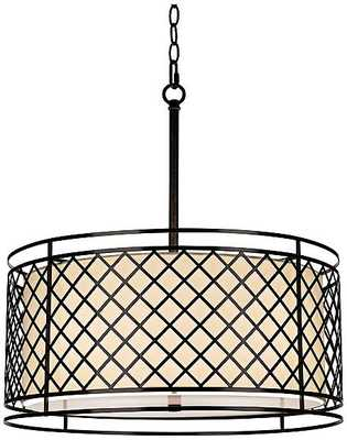 Lattice 4-Light Bronze Pendant Light - Lamps Plus