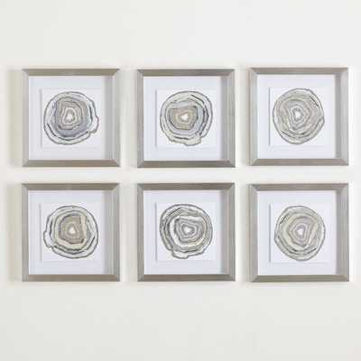 Geodes Framed Prints set of 6 - Birch Lane