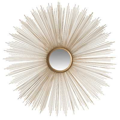 Axton Sunburst Mirror - Gold - Wayfair