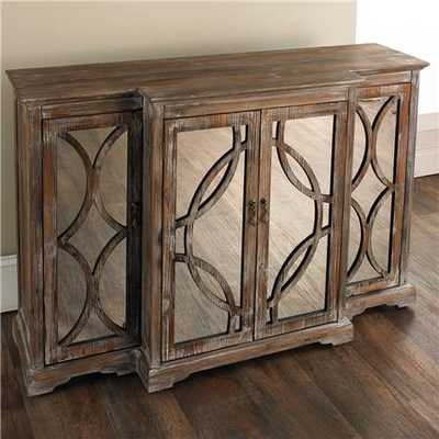 Rustic Mirror Front Sideboard - Shades of Light