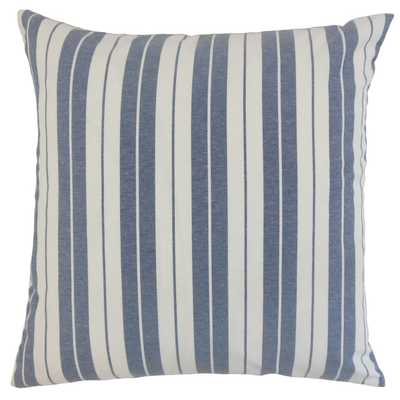 "Henley Stripes Pillow Navy - 18"" x 18"" - Poly Fill - Linen & Seam"