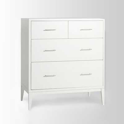 Narrow-Leg 4-Drawer Dresser - White - West Elm
