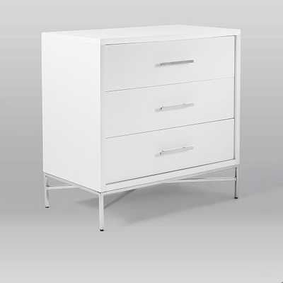 City Storage 3-Drawer Dresser - White - West Elm