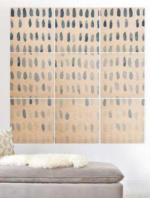 PROOF OF LIFE Wood Wall Mural - 3x3 - Unframed - Wander Print Co.