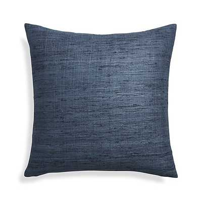 "Trevino Delfe Blue 20"" Pillow with Feather-Down Insert - Crate and Barrel"
