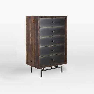 Steel Facade 5-Drawer Dresser - West Elm