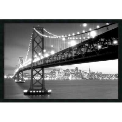 San Francisco Photographic Print - 25.66'' H x 37.66'' W - Satin black frame - AllModern
