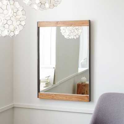 Industrial Metal + Wood Wall Mirror - West Elm