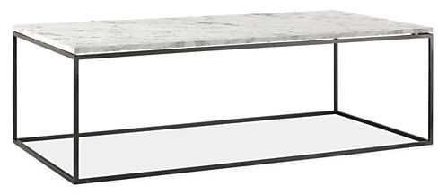 Tyne 48w 24d 15h Cocktail Table - Venatino marble - Room & Board