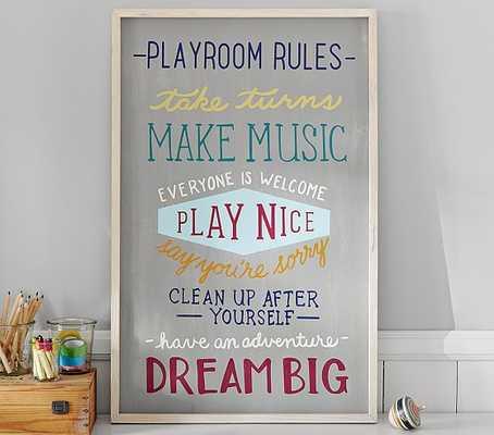 Playroom Rules Art - Pottery Barn Kids