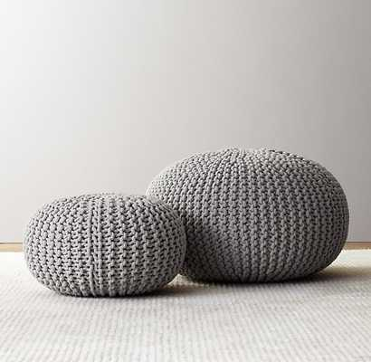 Knit cotton round pouf - Large - Dove - RH Baby & Child