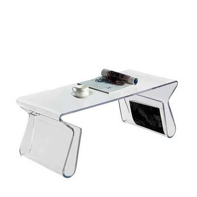 Magazine Acrylic Coffee Table - Clear - Modway Furniture