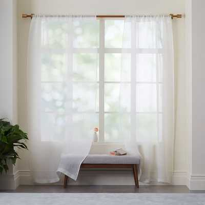 "Sheer Linen Curtain - Ivory - Individual -  96""L - West Elm"