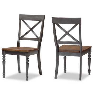 Country Cottage Solid Wood X-back Dining Side Chair - Set of 2 - Lark Interiors