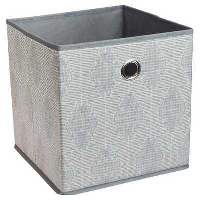 "Fabric Cube Storage Bin 11"" - Room Essentials-Gray Oval - Target"