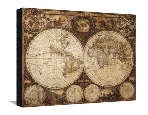 "VINTAGE MAP-32"" x 25"", Canvas-unframed - art.com"