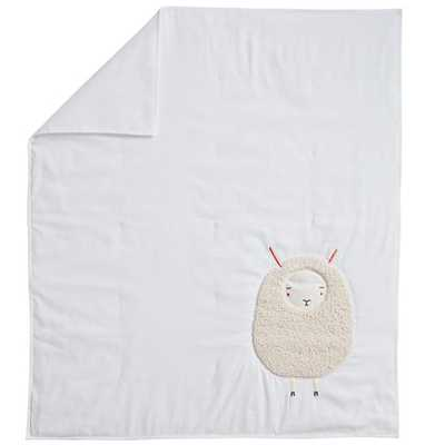 White Sheepish Baby Quilt - Land of Nod