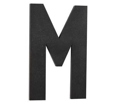 "Oversize Hanging Letter ""M"" - Pottery Barn"