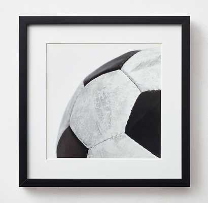 VINTAGE SPORTS GEAR PHOTOGRAPHY - SOCCERBALL - Framed - With Mat - RH Teen