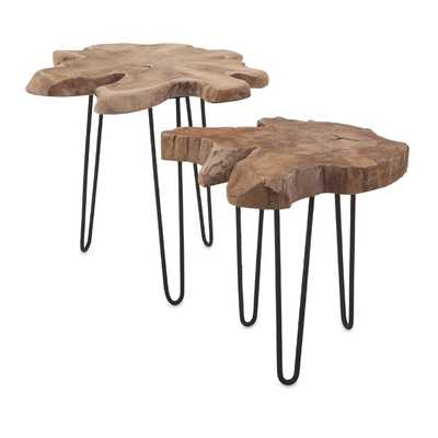 Baltra Teak Wood Nesting Tables - Set of 2 - Mercer Collection